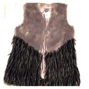 Yaira faux fur gray black size small
